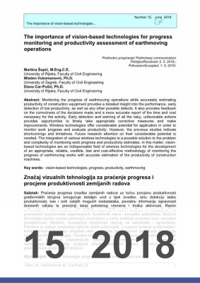 Cover of THE IMPORTANCE OF VISION-BASED TECHNOLOGIES FOR PROGRESS MONITORING AND PRODUCTIVITY ASSESSMENT OF EARTHMOVING OPERATIONS
