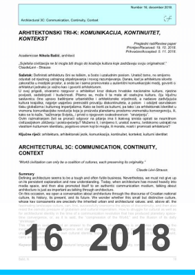 Cover of ARCHITECTURAL 3C: COMMUNICATION, CONTINUITY, CONTEXT
