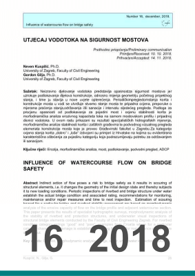 Cover of INFLUENCE OF WATERCOURSE FLOW ON BRIDGE SAFETY
