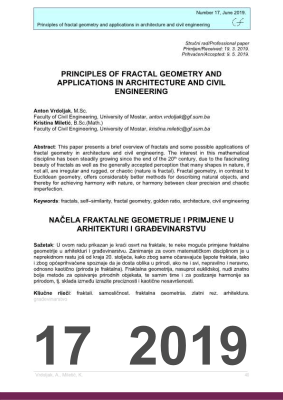 PRINCIPLES OF FRACTAL GEOMETRY AND APPLICATIONS IN ARCHITECTURE AND CIVIL ENGINEERING