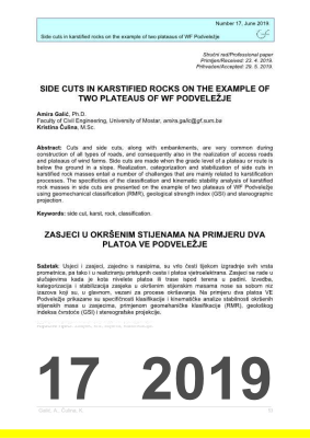 Cover of SIDE CUTS IN KARSTIFIED ROCKS ON THE EXAMPLE OF TWO PLATEAUS OF WF PODVELEŽJE