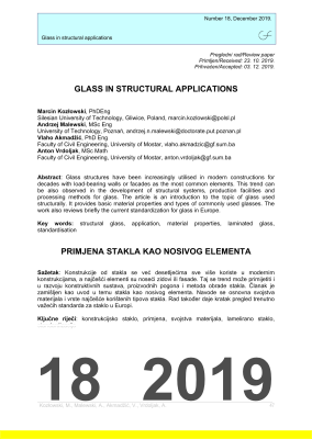 Cover of GLASS IN STRUCTURAL APPLICATIONS