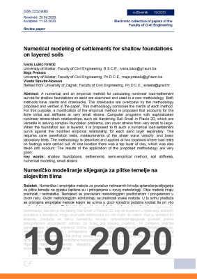NUMERICAL MODELING OF SETTLEMENTS FOR SHALLOW FOUNDATIONS ON LAYERED SOILS